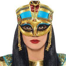 egiziano Cleopatra Maschera ACCESSORIO CAPELLI CORONA Faraone Antico REGINA
