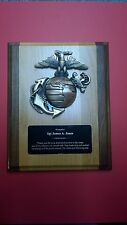 Plaque United States Marine Corps solid Wood High Quality