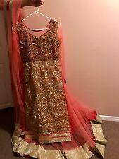 Indian Party Bridal Pink Gown Anarkali Dress Suit (Original Price $450)