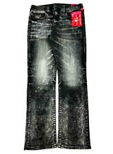 NWT True Religion Men's Jeans Size 36 Straight Ricky Fade Wash Pants Retail $230