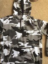 Hollister Mens Hooded Sweatshirt Grey Camo Size Small BNWT