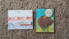 New listing 2 Handmade Stampin Up No Bones Cards Dinosaurs