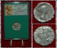 Ancient Roman Empire Coin Of FAUSTINA II Concordia On Reverse Silver Denarius
