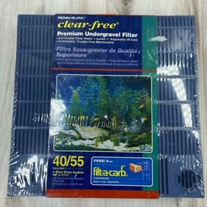 Penn-Plax Clear Free Premium Undergravel Filter 40-55 Gal Aquariums