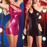 Women's Bodycon Bandage Sleeveless Short Mini Dress Wetlook Clubwear Cocktail