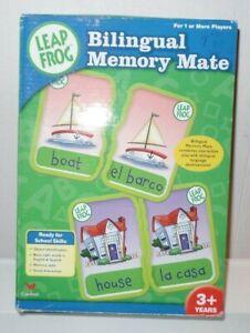 Leap Frog Bilingual Memory Mate 88 Card Set Spanish/English Made 2005 preowned