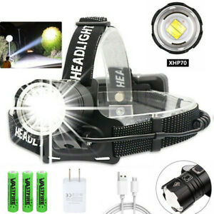 990000LM XHP90 XHP70.2 LED Headlamp Zoom USB Rechargeable Headlight Head Torch