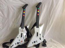 Lot of 2 XBox 360 Guitar Hero Xplorer Explorer Wired Guitar Controllers