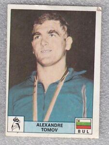 Sticker wrestling Aleksandar Tomov Bulgaria Olympic Montreal 1976 Panini D Novin