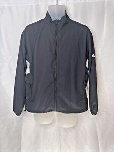EUC Sz L Golf Adidas Climaproof Wind Rain Protection Jacket Women Black White