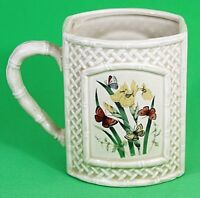 Otagiri Garden Trellis Butterfly Ceramic Cup Mug Iris Enesco Japan Vintage EUC