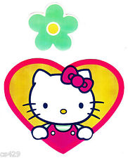 """5"""" HELLO KITTY SANRIO FLOWER CHARACTER  WALL BORDER PEEL & STICK CUT OUT"""