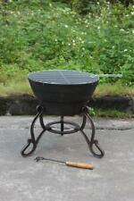 Cast Iron Fire Bowl & BBQ Grill in One!Patio Heater Fire Pit Cast Iron Firepit