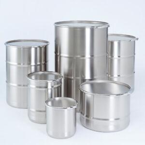 Müller 5L Barrel Drums Stainless Steel Flat Stackable Bottom 0100365