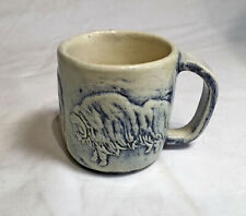 Louis C. Mathe Canadian Pottery Mug with Incised Muskox