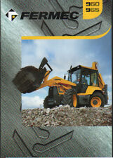 FERMEC 960 and 965 Backhoe Loader Brochure Leaflet