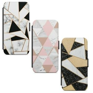 Marble Texture Print Pattern WALLET FLIP PHONE CASE COVER