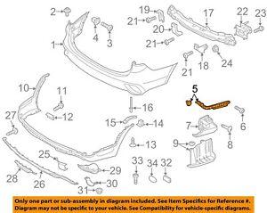 HYUNDAI OEM 13-18 Santa Fe Rear Bumper-Upper Bracket Left 86613B8000