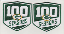 """GREEN BAY PACKERS 100th SEASONS JERSEY PATCH SET 4""""  LOT OF 2"""