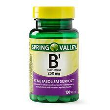 New Spring Valley Vitamin B1 Tablets 250 Mg 100 Ct