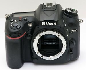 Nikon D7200 Body Only - Used, Excellent Condition Batt & Charger - HIGH CLICKS!