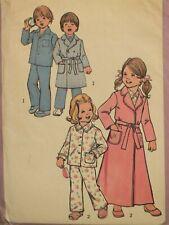 VTG 75 SIMPLICITY 7068 Childs/Boys/Girls Robe in 2 lengths & Pajamas PATTERN 5