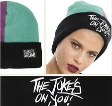 Suicide Squad Joker Beanie Hat Knit Cap The Joke Is On You DC Comics Unisex NWT