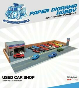 1:64 scale Used-Car Dealership - Diorama Building Kits for Hot Wheels