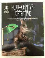 Purr-ceptive Detective - Bepuzzled Jigsaw New 1000 Piece Mystery Puzzle Vintage
