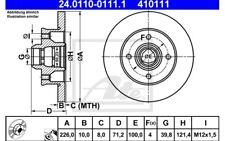 ATE Juego de 2 discos freno Trasero 226mm para SEAT VW GOLF 24.0110-0111.1