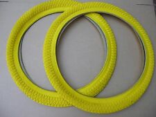 """Pair of NEW Coloured 20"""" BMX Bike Freestyle Tyres Cycle Bicycle"""