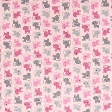 Urban Zoologie Minis Pink Cats fabric by Robert Kaufman sold per 1/4 metre