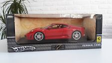 FERRARI F430 1/18 HOT WHEELS RED BEIGE INTERIORS INCLUDING BOX NEW CONDITION