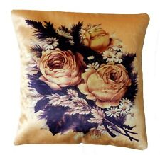 "16""Floral Pillow Pattern Embroidery Velvet Fancy Decor Design Car Cushion Cover"