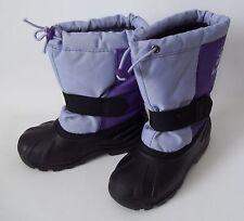 Girls Kamik Kids Gray Purple Boots Size 11 Tickle6 USA