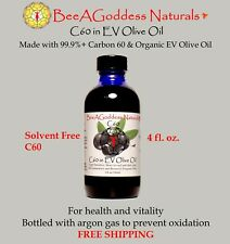 Carbon 60 in Organic EV Olive Oil  BeeAGoddess Naturals (Free Shipping) (4 oz.)