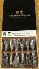 Arthur Price Of England Solver Plated Pastry Forks New In Original Box