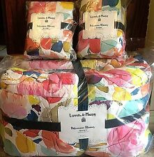 Pottery Barn Teen Lennon & Maisy Bohemian blooms FULL QUEEN quilt 2 shams floral