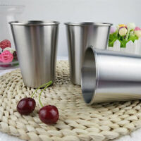 Stainless Steel Cups Tumbler Pint Glasses Metal Cold Cup Drinking Mug Cup LE