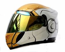 Masei 830 Silver Atomic DOT Full Face Motorcycle Bike Helmet ARAI Harley Iron