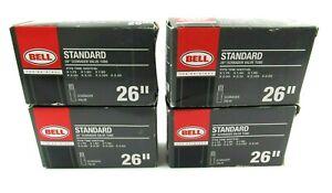 """Lot of 4 New Bell Standard  26"""" Schrader Valve Inner Tubes"""