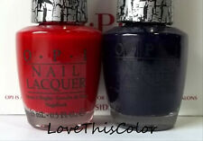 2 x Opi Nail Lacquer - Red Shatter & Blue Navy Shatter - Team Spirit Crackle Lot