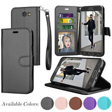 For Samsung Galaxy J3 Emerge/J3 2017 Flip Pouch PU Leather Card Slot Wallet Case
