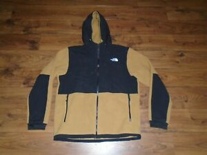 NICE The North Face Denali Fleece Full Zip Hooded Jacket Mens Large 721222 USED