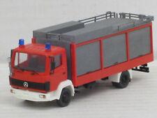 Mercedes-Benz LN Gerätewagen Feuerwehr in rot, o.OVP, Roskopf, 1:87, koloriert