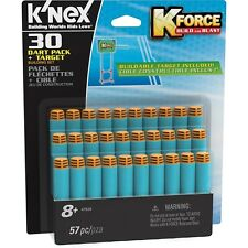 K'nex K-Force Foam Darts Pack and Target - Pack of 30 - Brand New!
