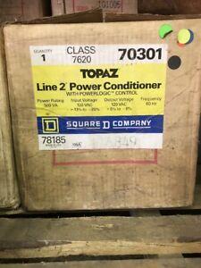 Square D Class 7620 Topaz Line 2 Power Conditioner W/ Powerlogic Control New!
