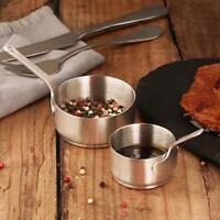 Stainless Steel Juice Sauce Dip Bowl Sauce Condiment Bowls Pots With Long Handle