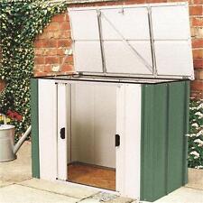 4ft x 2ft Metal Shed Storage Storette Unit Outdoor Hinged Lid Lockable Doors
