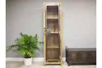 Tall Industrial Wooden / Metal Display Cabinet / Storage Organiser / Bathroom